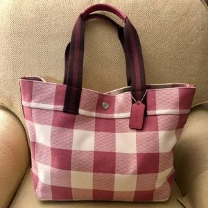 Coach tote Buffalo print pink/strawberry